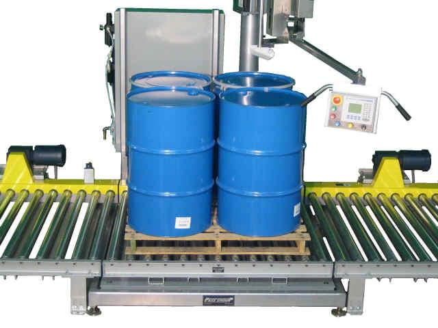 4 Drums on Pallet Semi-Automatic Pivot Style Filler