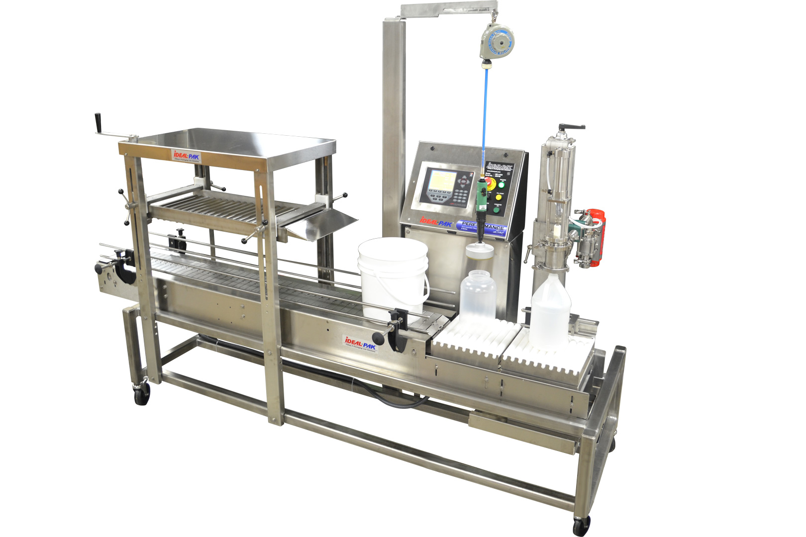 Stainless Steel Semi-Automatic Net Weight Filler with Hand Capper and Roller Closer