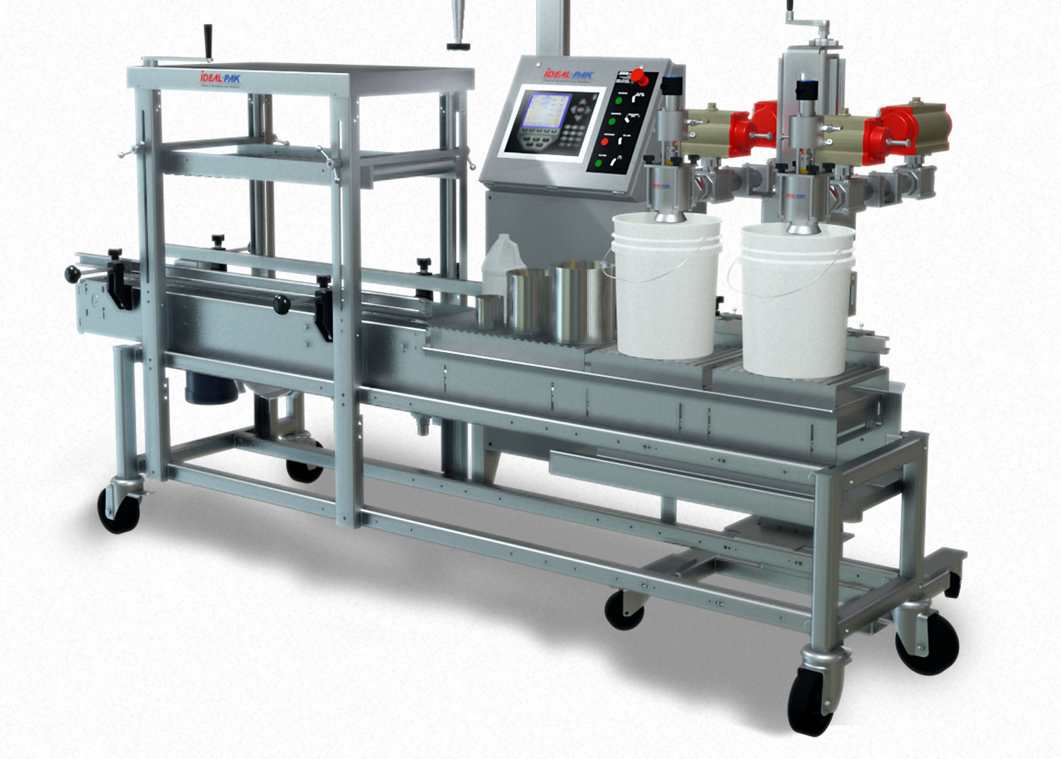 ME2-CEM Top Filling Semi-Automatic Net Weight Filler with Roller Closer