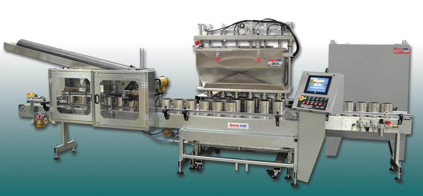 6 Head Automatic Liquid Filler with Linear Transfer and High Speed Lid Placer and Closer